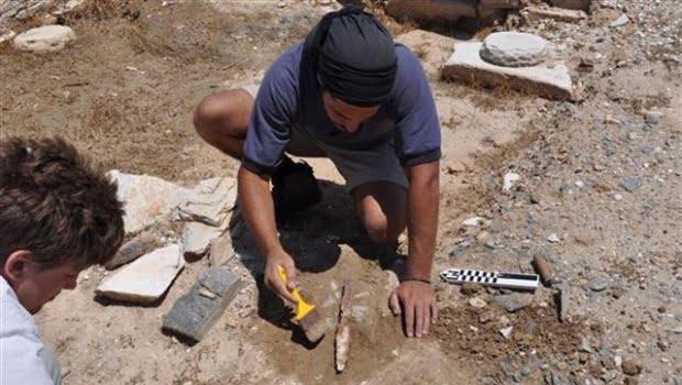 Εργάτες σε αρχαιολογικάέργα της Θεσσαλονίκης