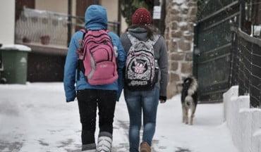 Κλειστά τα σχολεία στους Δήμους  Λαγκαδά και Αριστοτέλη λόγω χιονόπτωσης