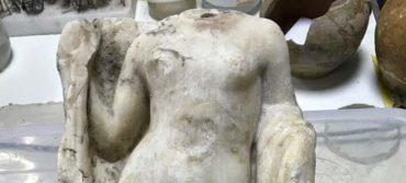 Ακέφαλο άγαλμα της θεάς Αφροδίτης βρέθηκε στο Μετρό Θεσσαλονίκης